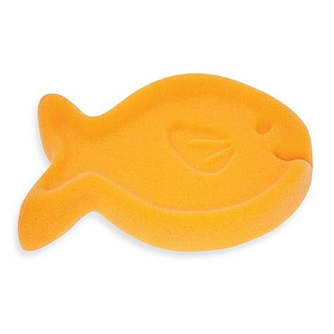 baby bathtub sponge baby s journey fish bath tub sponge in orange bed bath