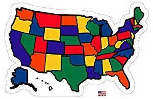 us map decal for rv rv trailer cer usa map sticker premium