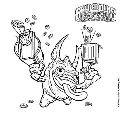 free coloring pages of trigger happy skylanders