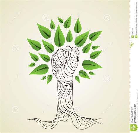Go Green Concept Drawings go green concept tree stock vector image of friendly