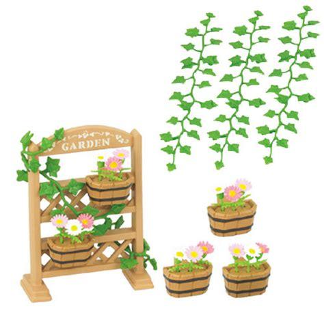 sylvanian families garden set sylvanian families trellis flower garden plant set ebay