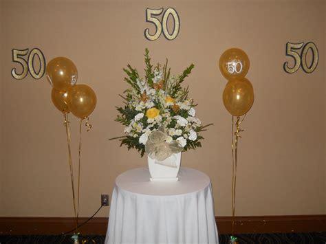 floral arrangement 50th wedding anniversary