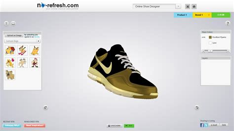 design on online shoe design tool to let your end users design aspired pair