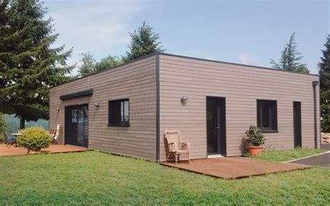 Maison Bois De Plain Pied Avec 233 Tage Am 233 Nageable Nos free incroyable garage toit plat bois maison toit plat