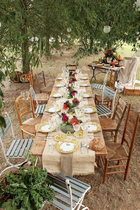 Country wedding table ideas burlap unique rustic outdoor wedding