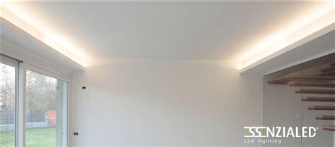 illuminazione indiretta led illuminazione soggiorno cartongesso veletta idee