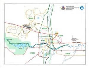 pueblo colorado zip code map pueblo pueblo west 8x11 zip codes map from macvan map store