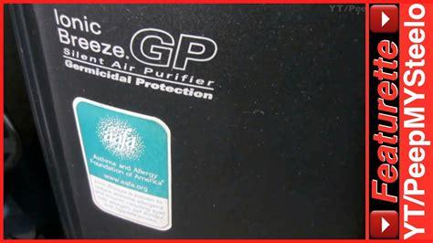ionic breeze air purifier  gp germicidal protection