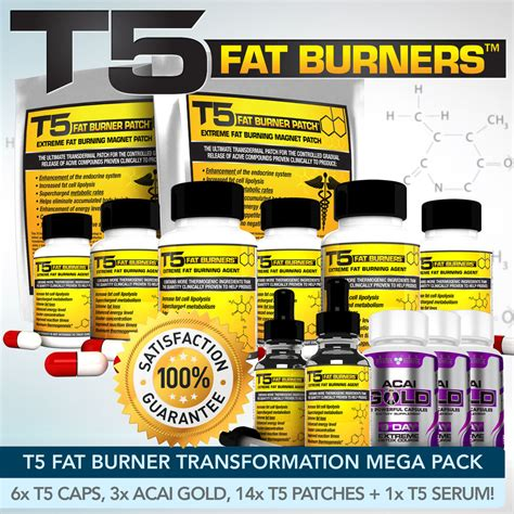 Strongest Detox by T5 Burners Mega Bundle Strongest Diet Slimming Pills