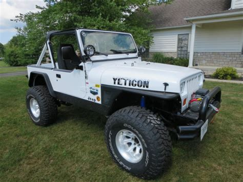 classic jeep convertible 1991 jeep wrangler yj convertible chevy 327 v8 th350