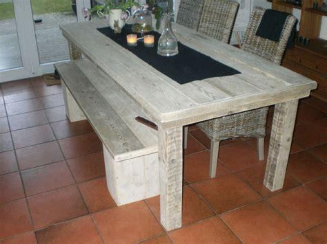 tafel salzgitter steigerhouten tafel met bankje steigerhoutenmeubelshop nl