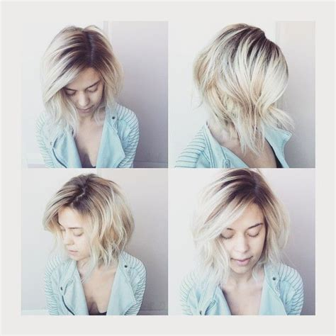 blonde bob growing out rooty platinum blonde hair color platinum pinterest