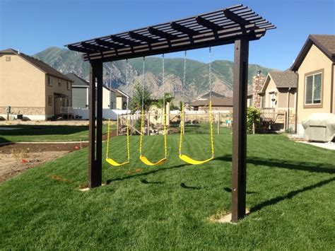 225 meadowbrook back patio and clothes line denbesten diy swing set made for the kids diy pinterest