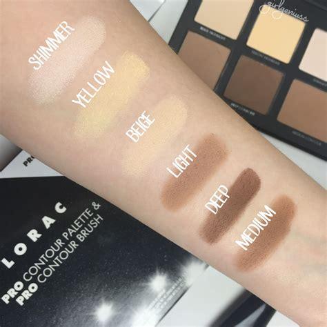 Lorac Cosmetic Pro Contour Pallete lorac pro contour palette swatches