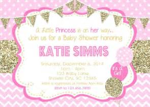 pink baby shower invitation templates pink gold baby shower invitation 600x429 all invitations