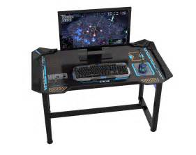Gamer Computer Desks 22 E Blue Usa Wireless Glowing Led Pc Gaming Desk Table Medium Egt511