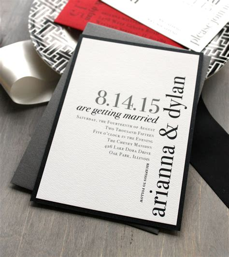 Modern Wedding Invitations by Modern Wedding Invitations Wedding Invitation Chic