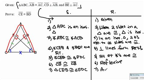 Cpctc Proofs Worksheet With Answers by Geometry Triangle Congruence Proof D Cpctc Part 1