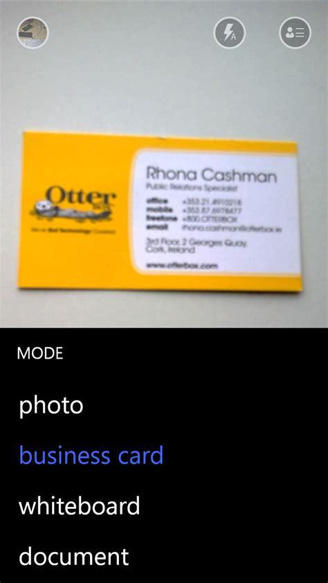 lens card office lens gets business card support ocrs via onedrive