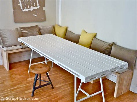 Kitchen Banquette Furniture by D I Y Pallet Dining Table A 10 Step Tutorial