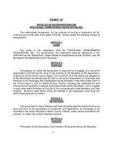 Articles Of Incorporation Florida Llc Florida Llc Articles Of Organization Template