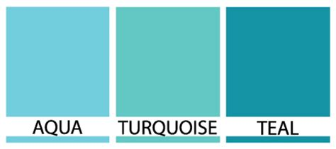 the color aqua differences between turquoise teal and aqua janet carr