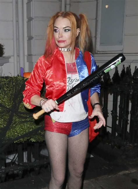 lindsay lohan halloween costume fran cutler s halloween party in london 213850 photos