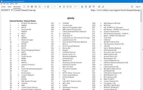 Printable Comcast Channel Lineup