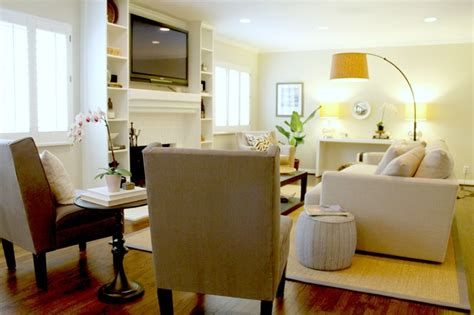 seating arrangement in luxe living room transitional