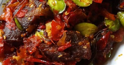 Sambal Oseng Tuna Pete Agak Pedas daging pete 77 resep cookpad