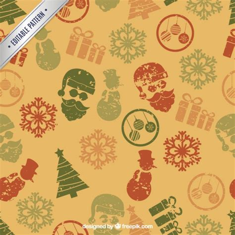 retro christmas pattern vector free retro christmas pattern in sted style vector premium