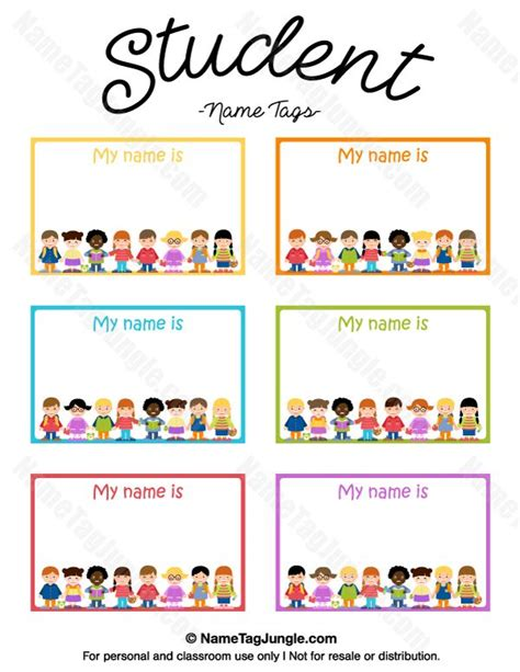 student name card template free printable student name tags the template can also be