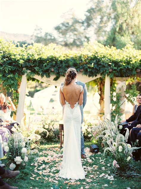 classy backyard wedding elegant ojai resort wedding rustic outdoor wedding ideas