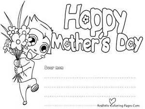 mothers day coloring cards mothers day 2013 greeting card realistic coloring pages