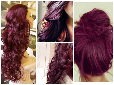 hair color for maroon highlights burgundy hair color