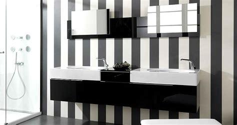black and white striped bathroom modern black and white bathroom sinks with striped wall
