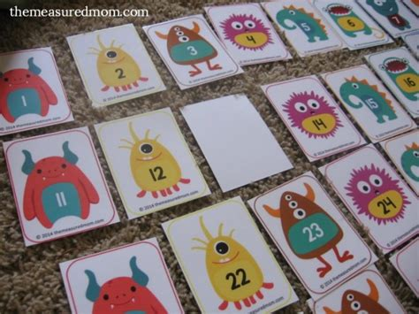 Used Gift Card Numbers - free number cards 1 130 with ideas for how to use them the measured mom