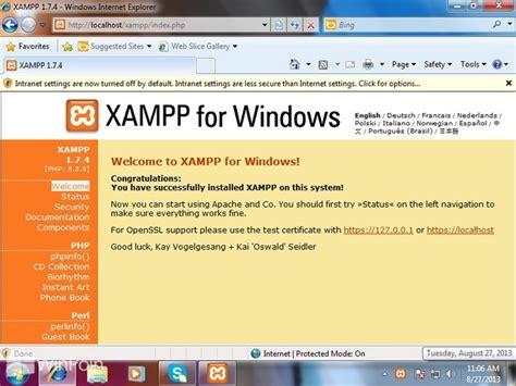 cara membuat website di xammp cara install xp untuk bikin web di windows 7 segiempat
