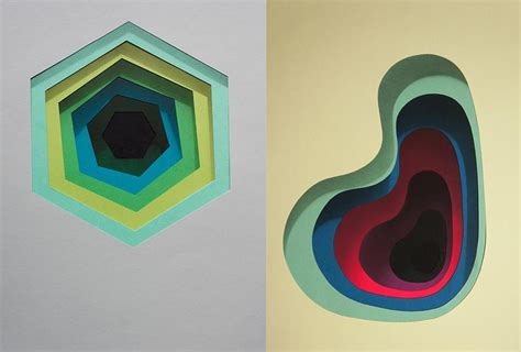 layers of color revealed on walls fubiz media