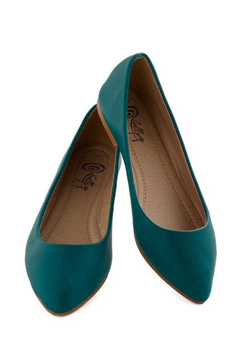 flat teal shoes defined the flat in teal mod retro vintage flats