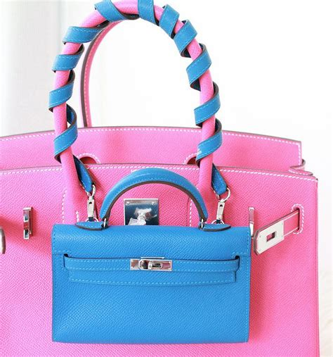 Hermes Birkin Mini 3064 hermes pink birkin bag and mini in blue handbags clutches minis