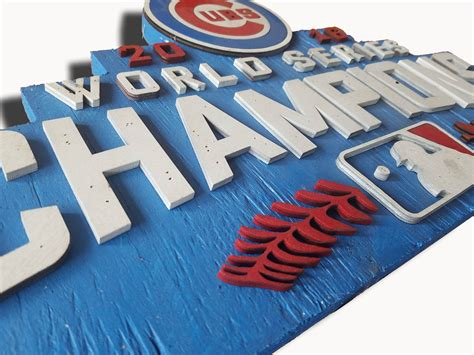 Handmade Chicago - world series chions chicago cubs handmade distressed