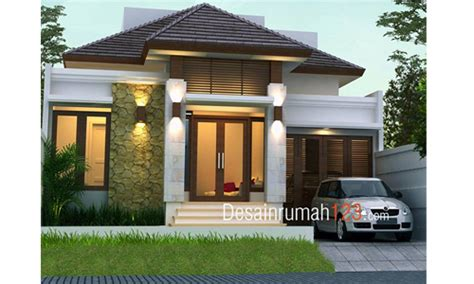 desain rumah  lantai bergaya tropis  lahan     desain rumah