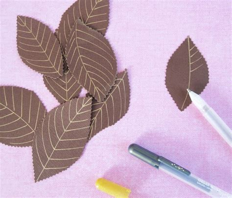 Make Paper Leaves - momichka how to make paper leaves