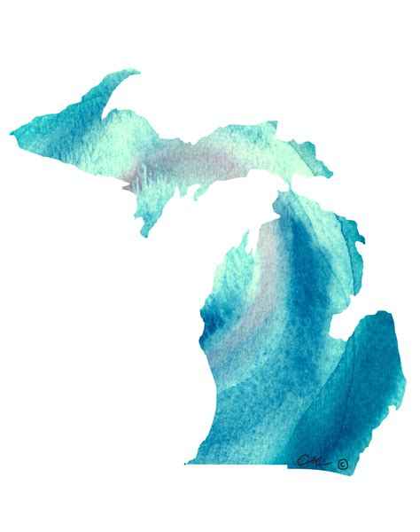 watercolor tattoos in michigan michigan watercolor electric teal the color and