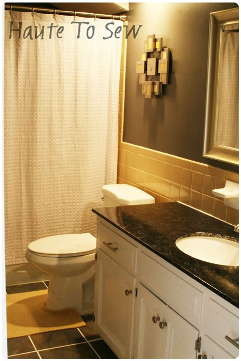 bathroom tile color schemes remodelaholic bathroom makeover yellow gray color scheme