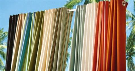 outdoor fabric curtain panels outdoor curtain panels made of sunbrella 174 all weather uv