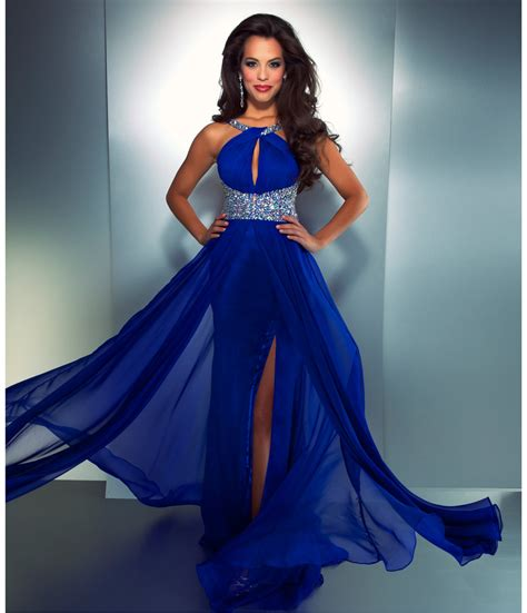 mac duggal prom 2013 electric blue high from unique vintage