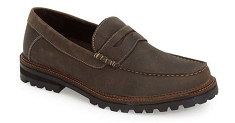 dr scholls mens loafers dr scholls ronald loafer in brown for lyst