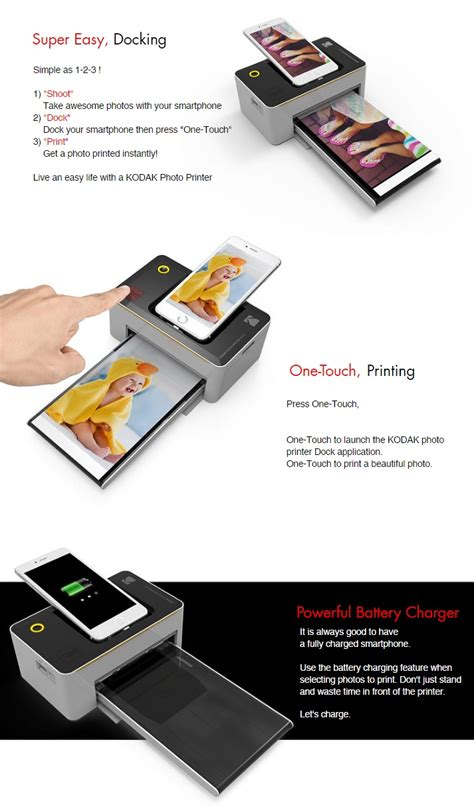 kodak dock kodak photo printer dock pd480 and photo printer mini